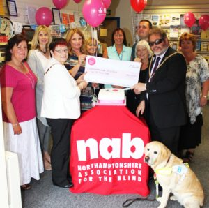 Cake cutting for Lottery award with Mayor of Northampton