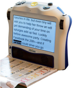 Photo of the Eye-Pal Ace Portable Scanner and Reader