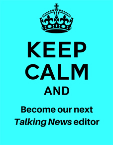 Keep calm and beome our next talking news editor
