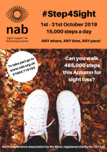 Can you walk 465,000 steps this Autumn for sight loss?